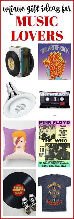 Over 20 Unique Gift Ideas for Music Lovers - this is a GREAT list for gift ideas!