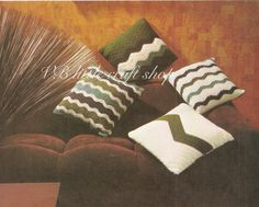 Four elegant cushions crochet pattern. Instant PDF download! by VBlittlecraftshop on Etsy