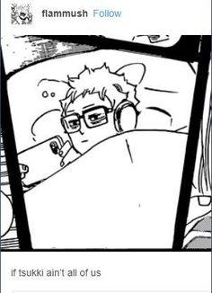 Oh tsukki Haikyuu Tsukishima, Haikyuu Funny, Haikyuu Manga, Haikyuu Fanart, Kuroo, Kenma, Me Anime, Girls Anime, Anime Manga