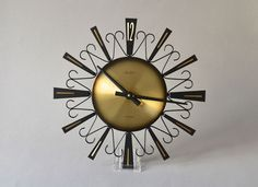Vintage clock brass West German wall clock by MightyVintage, €150.00