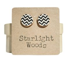 Black and white Chevron Studs- LOVE THESE!