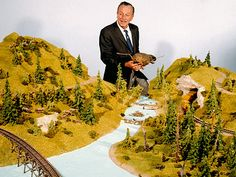 Walt looks over the elaborate model of the Beaver Valley area of Nature's Wonderland. Disneyland 60th, Vintage Disneyland, Disneyland Resort, Old Disney, Disney Magic, Disney Mickey, Disney Land, Disney Stuff, Mickey Mouse