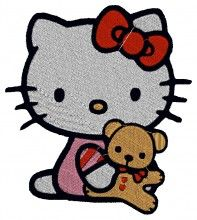 Cute Baby Kitty Embroidery Design brother machine embroidery designs