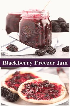 Sharing an easy and delicious recipe for Blackberry Freezer Jam. This jam can be be stored in either the refrigerator or freezer. Blackberry Freezer Jam, Blackberry Recipes, Freezer Jam Recipes, Canning Recipes, Drink Recipes, Jelly Recipes, Top Recipes, Unique Recipes, Summer Recipes