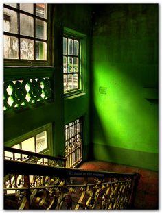 Internally / by m dee88 (flickr). #green #interiors
