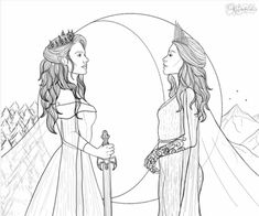 Aelin and Feyre meeting