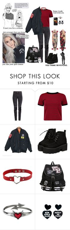 """""""I really want to kiss you"""" by alternative-model ❤ liked on Polyvore featuring H&M, Boohoo, Bertha, Børn, GET LOST and Love Quotes Scarves"""