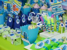 SD Eventos: BUSCANDO A DORY! Finding Dory birthday party Finding Dory sweet table Candy Bar Buscando a Dory