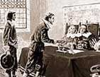 In 1654, Jacob Barsimson became the first Jewish settler in New Amsterdam (New York), and a few months later a group of 23 Jews arrived from Brazil.