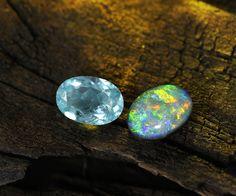 Les pierre du mois d'octobre: la Tourmaline et l'Opale