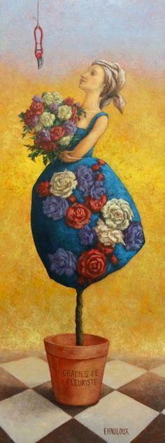 "Catherine CHAULOUX  -  ""La Fleuriste"""