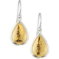 Gurhan Amulet Two-Tone Teardrop Earrings ($123) ❤ liked on Polyvore featuring jewelry, earrings, silver gol, 24k jewelry, two tone earrings, teardrop earrings, 24 karat gold earrings and dangle earrings