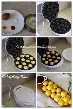Chettinad Muttai Paniyaram – Instant version / Egg Paniyaram - Chettinad Recipes