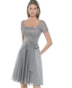 Knee-length Chiffon Party Dress, Bridesmaid Dress