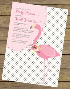 flamingo baby shower invitation pink flamingo baby shower flamingo shower pink flamingo invite bridal shower invitation printable