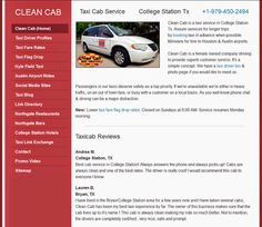 Clean Cab Taxi Service, Bryan / College Station TX We did a complete on the version of our Added a section, changed & updated all . Bryan College, College Station, Taxi Driver, Desktop, Texas, Ads, Cleaning, Website, Blog