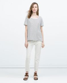 ZARA - NEW THIS WEEK - T-SHIRT WITH ASYMMETRIC HEM