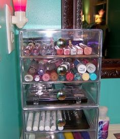 Container Store Acrylic Drawers =)