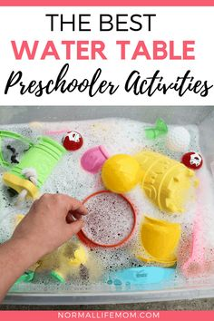 Preschool Water Activities Fun and easy homemade water tables for endless summer fun. These amazing toddler activities are simple and require minimal setup The post Preschool Water Activities appeared first on Toddlers Diy. Preschool Learning, Sensory Activities, Infant Activities, Toddler Preschool, Summer Activities, Preschool Activities, Sensory Bins, Sensory Play, Fun Activities For Toddlers