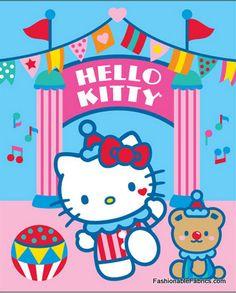 Hello Kitty Circus Day Panel by David Textiles
