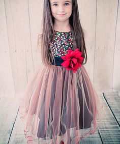 Love this Red Sequin Overlay Dress - Toddler & Girls on #zulily! #zulilyfinds
