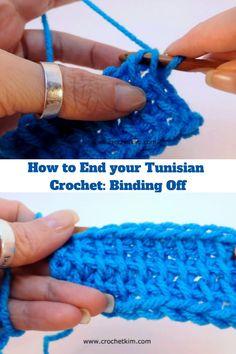 #tunisiancrochet #howto #bindoff #crochetkim