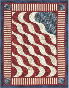 American Wave Quilt Pattern QWT-10471