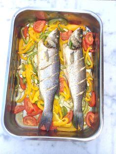 Zeebaars uit de oven #recept - lekker én makkelijk made by ellen