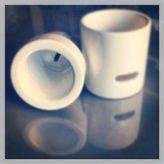 Portaspazzolino in ceramica scomponibile, realizzato da Giuseppe Del Ben #delbengiuseppedesigner