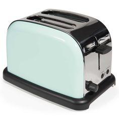 Grille-pain en métal bleu VINTAGE