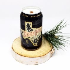 Texas ZiegenBock Amber Beer Can Candle is handcrafted locally in Dallas, TX by our M.A.Designs Team and created from up-cycling recycled beer cans into re-purposed soy blend candles. We use a very high quality of Soy Blended Wax to ensure you receive a clean long burn time of 40+ hours on average plus the best possible scent throw. Plus, you are going to love our innovative custom cherry wood wicks that give you a crackling sound ambiance that will make you feel like you are sitting by a…