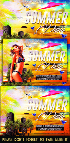 Summer Party Flyer Mockup Template by Web Design, Graphic Design, Design Ideas, Information Graphics, Party Flyer, User Interface, Photoshop, Poster, Mockup