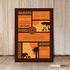 Safari baby shower invitation / Printable by PrintableMiracles, $12.00