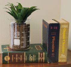 Turn scientific labware into home decor! DIY ideas. More