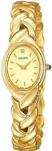 Seiko Gold-Tone Diamond Ladies Watch SUJ216 Seiko. Save 56 Off!. $99.50. Steel Bracelet Strap. Analog Display