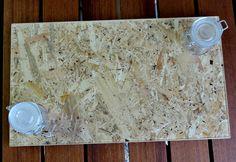 Vassoio per formaggi e salumi in legno con rivestimento di resina per alimenti. Formato 20x35 cm.