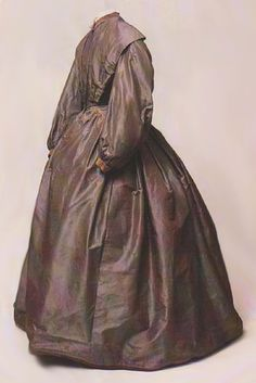 The Going-Away Dress of Charlotte Brontë. The pattern is taken from the pretty dress which Charlotte Brontë wore on the 29th June, 1854, when she left Howarth with her new husband, Arthur Bell Nicholls, on their way to Ireland for their honeymoon. The dress is now owned by the Brontë Parsonage Museum, Howarth.