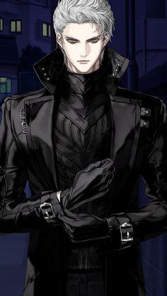 Dark Anime Guys, Cool Anime Guys, Hot Anime Boy, Handsome Anime Guys, Anime Art Girl, White Hair Anime Guy, Gato Anime, Manga Anime, Character Inspiration