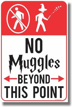 PosterEnvy.com - No Muggles Beyond This Point - NEW Magic Harry Potter Humor…