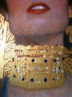 The detail of the gorgeous choker on the 'Judith' painting by Gustav Klimt in Art Nouveau, Michael Lang, Tattoo Perna, Franz Josef I, Klimt Art, Woman In Gold, Vienna Secession, Famous Artists, Art History