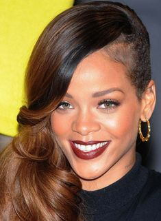 Rihanna Hairstyles - Side Shaved