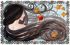 The Four Seasons -- Fall. Art print of original watercolor painting.
