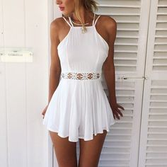 Beautiful crocheted playsuit