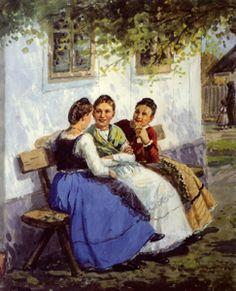 stefan jager paintings | April 03 - Sonntags auf der Gassenbank