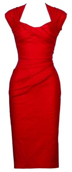 Stunning Red Fitted Dress - Stop Staring Clothing