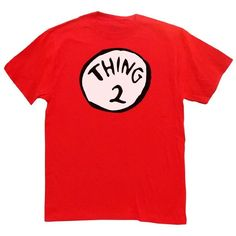 Swagge Thing 2 T-shirt:Amazon:Clothing ($15) ❤ liked on Polyvore featuring tops, t-shirts, red top, red t shirt and red tee