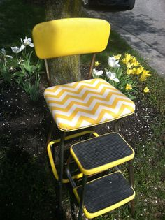 I have a really old one of these. My favorite chair as a kid. I should fix it up. Maybe not yellow though.