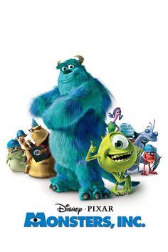 Disney Pixar Monsters Inc Animated Halloween Movies, Films D' Halloween, Animated Movie Posters, Film Disney, Arte Disney, Disney Movies, Disney Pixar, Film Pixar, Pixar Movies