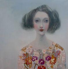 Kristin Vestgard Layers oil on canvas 70 x 70 cm S O L D