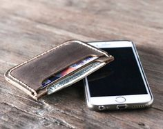 Mens wallet leather wallet groomsmen gift gift for by JooJoobs